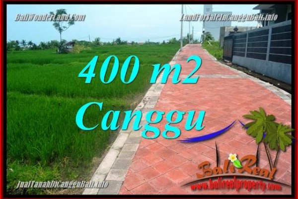 FOR SALE Exotic PROPERTY 400 m2 LAND IN CANGGU TJCG219