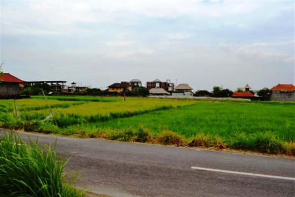 Land for sale in Canggu near beach rice fields view – LCG033
