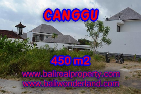 Land for sale in Bali, Attractive view in Canggu Bali – 450 sqm @ $ 850