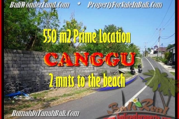 Beautiful LAND FOR SALE IN Canggu Batu Bolong TJCG159