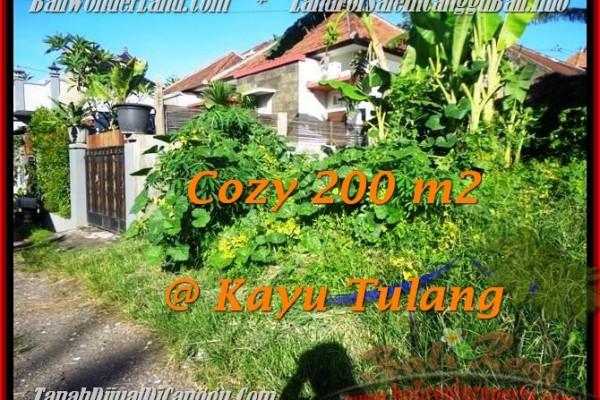 200 m2 LAND FOR SALE IN Canggu Kayutulang  BALI TJCG173