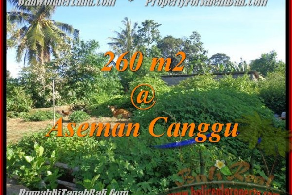 Exotic Canggu Brawa BALI 260 m2 LAND FOR SALE TJCG174