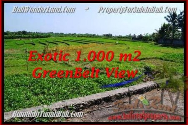 Exotic 1,000 m2 LAND SALE IN Canggu Pererenan BALI TJCG184