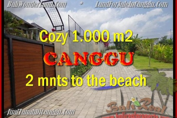 Magnificent LAND IN Canggu Pererenan BALI FOR SALE TJCG161