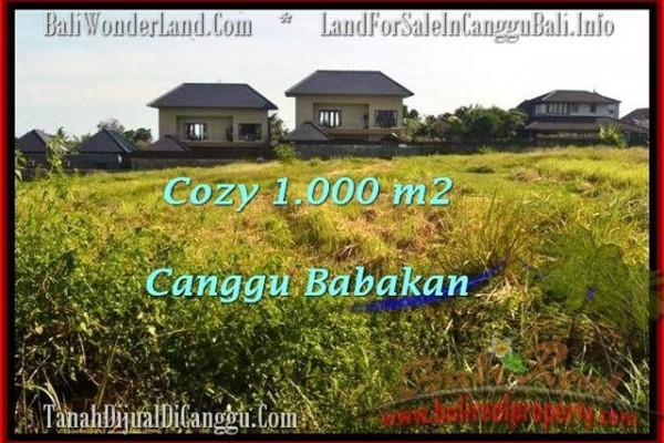 Exotic CANGGU 1,000 m2 LAND FOR SALE TJCG178