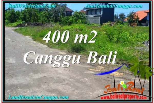 Magnificent 400 m2 LAND FOR SALE IN Canggu Brawa BALI TJCG202