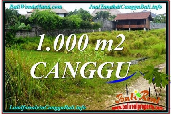 Magnificent PROPERTY CANGGU BALI 1,000 m2 LAND FOR SALE TJCG214