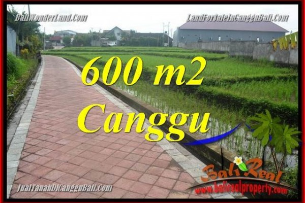Affordable PROPERTY Canggu Brawa BALI 600 m2 LAND FOR SALE TJCG220