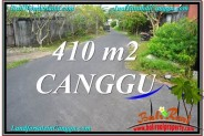 Magnificent PROPERTY 410 m2 LAND IN CANGGU BALI FOR SALE TJCG216