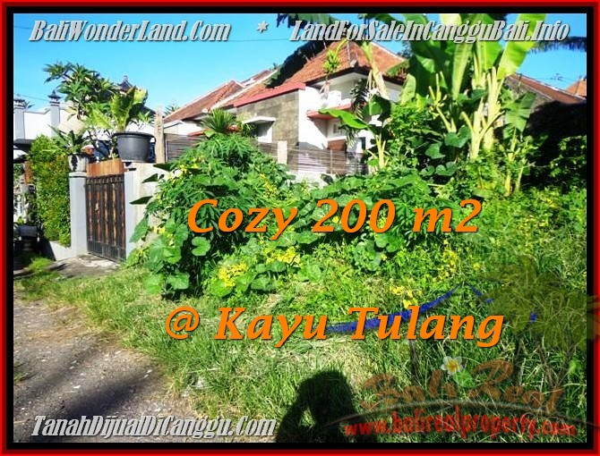 Beautiful PROPERTY 200 m2 LAND FOR SALE IN Canggu Kayutulang  TJCG173