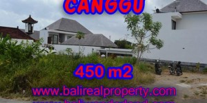 Land for sale in Bali, Extraordinary view in Canggu Bali – 450 sqm @ $ 850