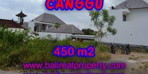 Land for sale in Bali, Extraordinary view in Canggu Bali – 450 sqm @ $ 850