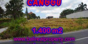 Land for sale in Bali, Fabulous view in Canggu Bali – 1,400 sqm @ $ 983