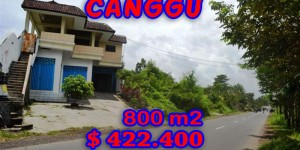 Amazing Property in Bali, Land for sale in Canggu Bali – 800 sqm @ $ 528
